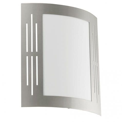 Eglo Outdoor 82309 City Outdoor Wall Light Stainless Steel